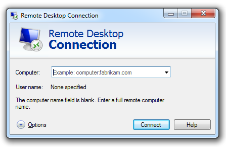 WIndows 8 Remote Desktop Connection IP
